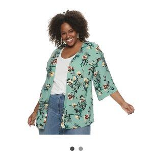 NWOT Floral Kimono Cardigan/Jacket